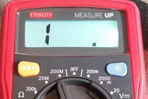 EtekCity Multimeter backlight